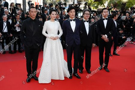 Stock Photo of Huang Jue, Chinese actress Xu Qing, Chinese actor Zhu Yi Long and guests arrive for the Closing Awards Ceremony of the 72nd annual Cannes Film Festival, in Cannes, France, 25 May 2019. The Golden Palm winning movie will be screened after the closing ceremony.