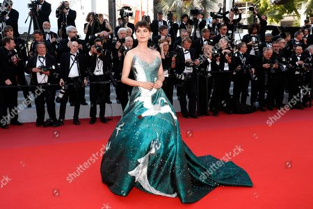 Catrinel Marlon arrives for the Closing Awards Ceremony of the 72nd annual Cannes Film Festival, in Cannes, France, 25 May 2019. The Golden Palm winning movie will be screened after the closing ceremony.