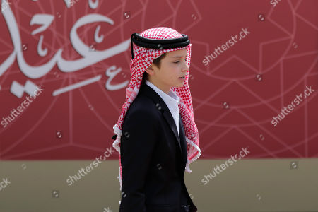 Jordanian Prince Hashem arrives for the ceremony of the 73th Anniversary of the Independence in Amman, Jordan, 25 May 2019.