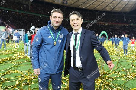 l-r: Co-Trainer Robert Kovac (FC Bayern Muenchen) and Chef-Trainer Nico Kovac (FC Bayern Muenchen), RB Leipzig vs. FC Bayern Muenchen, Football, Finale, DFB-Pokal, 25.05.2019 DFL REGULATIONS PROHIBIT ANY USE OF PHOTOGRAPHS AS IMAGE SEQUENCES AND/OR QUASI-VIDEO