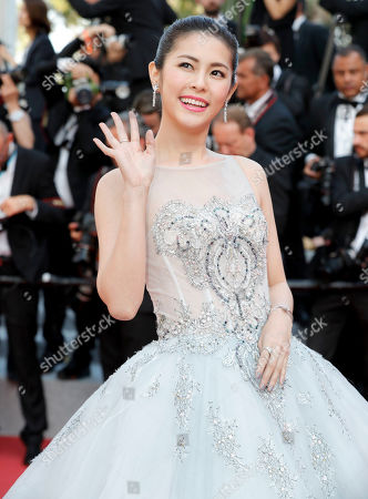 Ge Tian at the 'Hors Normes' red carpet premiere, Cannes film festival closinng ceremony.