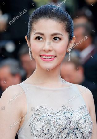 Stock Picture of Ge Tian at the 'Hors Normes' red carpet premiere, Cannes film festival closinng ceremony.