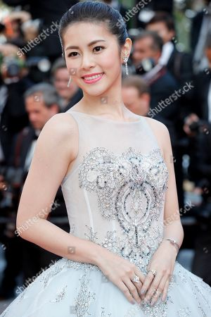 Stock Image of Ge Tian at the 'Hors Normes' red carpet premiere, Cannes film festival closinng ceremony.