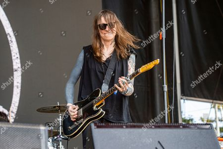Laura Jane Grace of Against Me! performs at the BottleRock Napa Valley Music Festival at Napa Valley Expo, in Napa, Calif