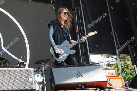 Stock Photo of Laura Jane Grace of Against Me! performs at the BottleRock Napa Valley Music Festival at Napa Valley Expo, in Napa, Calif