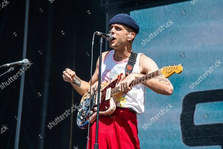 Landon Jacobs of Sir Sly performs at the BottleRock Napa Valley Music Festival at Napa Valley Expo, in Napa, Calif