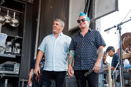 Gary Dell'Abate, Tre Cool. Gary Dell'Abate, left, and Tre Cool are seen at the BottleRock Napa Valley Music Festival at Napa Valley Expo, in Napa, Calif