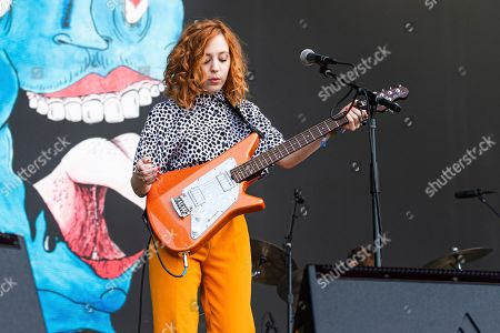 Genessa Gariano of The Regrettes performs at the BottleRock Napa Valley Music Festival at Napa Valley Expo, in Napa, Calif