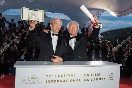 Jean-Pierre Dardenne and Luc Dardenne, winners of the Best Director Award for the film 'Le Jeune Ahmed'