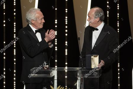 Jean-Pierre Dardenne and Luc Dardenne, winners of the Best Director award for their film 'Le Jeune Ahmed'