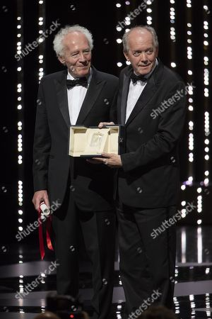 Stock Picture of Jean-Pierre Dardenne and Luc Dardenne, winners of the Best Director award for their film 'Le Jeune Ahmed'
