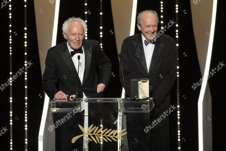 Stock Photo of Jean-Pierre Dardenne and Luc Dardenne, winners of the Best Director award for their film 'Le Jeune Ahmed'