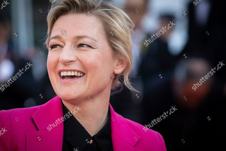 Anne-Elisabeth Lemoine poses for photographers upon arrival at the awards ceremony of the 72nd international film festival, Cannes, southern France
