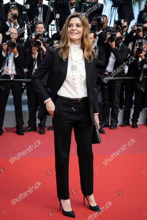 Chiara Mastroianni poses for photographers upon arrival at the awards ceremony of the 72nd international film festival, Cannes, southern France