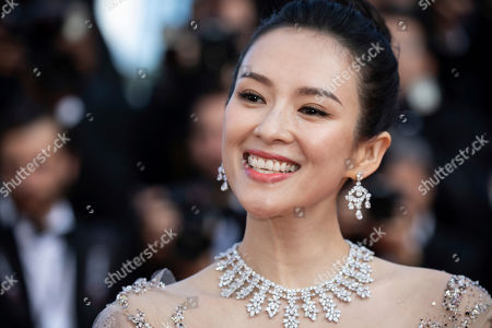 Stock Photo of Zhang Ziyi poses for photographers upon arrival at the awards ceremony of the 72nd international film festival, Cannes, southern France