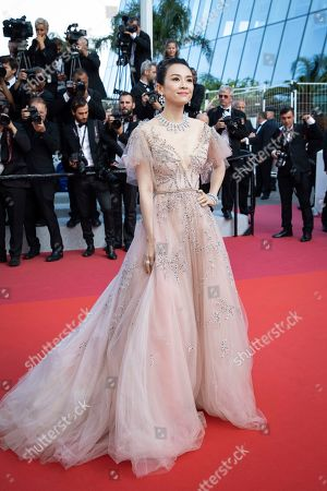 Zhang Ziyi poses for photographers upon arrival at the awards ceremony of the 72nd international film festival, Cannes, southern France