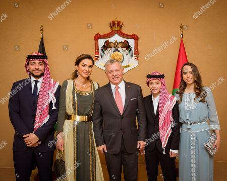 King Abdullah II and Queen Rania and HRH Crown Prince Al Hussein and HRH Prince Hashem and HRH Princess Lalla Salma