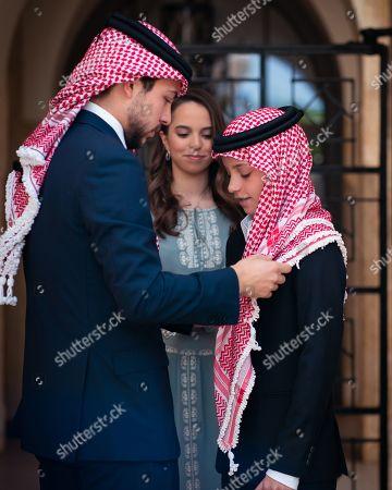 Stock Photo of Crown Prince Al Hussein and Prince Hashem and Princess Lalla Salma