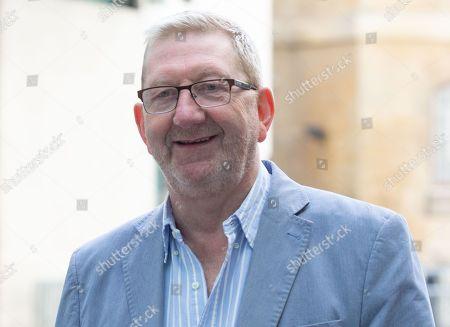 Len McCluskey, Unite Genral Secretary, arrives at the BBC Studios.