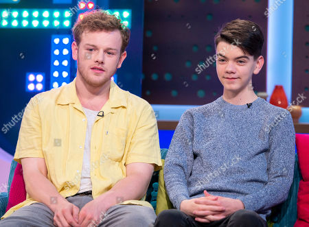 Stock Photo of Callum Woodhouse and Milo Parker
