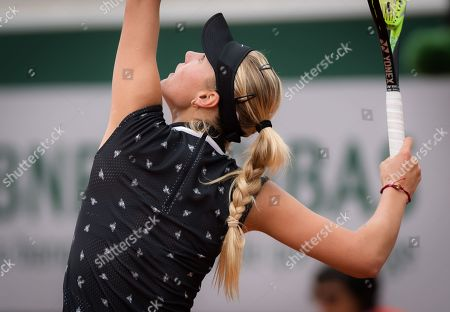 Stock Photo of Sofya Zhuk of Russia in action during her first-round match