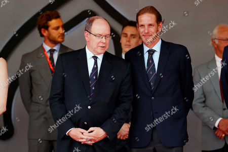 Motorsports: FIA Formula One World Championship 2019, Grand Prix of Monaco,   Prince Albert II of Monaco, Andrea Casiraghi