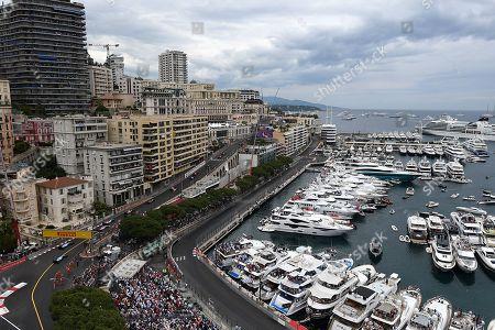 26.05.2019, Monaco Circuit, Monte Carlo, FORMULA 1 GRAND PRIX DE MONACO 2019, 23. - 26.05.2019 ,  Rennstart:  Lewis Hamilton (GB#44), Mercedes-AMG Petronas Mogoalsport, Valtteri Bottas (FIN#77), Mercedes-AMG Petronas Mogoalsport, Max Verstappen (NEL#33), Aston Martin Red Bull Racing, Sebastian Vettel (GER#5), Scuderia Ferrari Mission Winnow, Daniel Ricciardo (AUS#3), Renault F1 Team, Charles Leclerc (MCO#16), Scuderia Ferrari Mission Winnow, Nico Huelkenberg (GER#27), Renault F1 Team, Sergio Perez (MEX#11), Sportpesa Racing Point F1 Team, Nico Huelkenberg (GER#27), Renault F1 Team