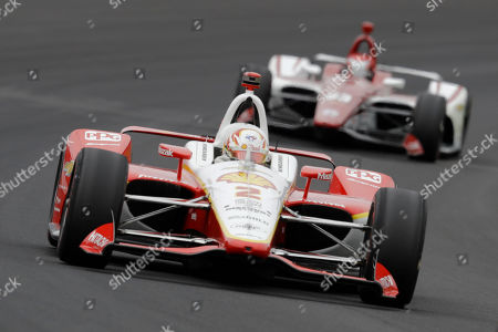 Ed Jones, Josef Newgarden. Josef Newgarden leads Ed Jones, of United Arab Emirates, through the first turn during the Indianapolis 500 IndyCar auto race at Indianapolis Motor Speedway, in Indianapolis