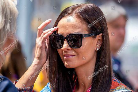 Minttu Virtanen, wife of Finnish Formula One driver Kimi Raikkonen of Alfa Romeo Racing prior to 2019 Formula One Grand Prix of Monaco at the Monte Carlo circuit in Monaco, 26 May 2019.