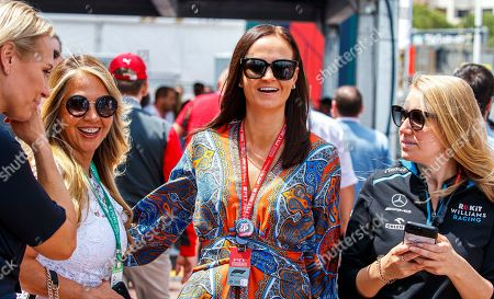 Stock Photo of Minttu Virtanen (C), wife of Finnish Formula One driver Kimi Raikkonen of Alfa Romeo Racing prior to 2019 Formula One Grand Prix of Monaco at the Monte Carlo circuit in Monaco, 26 May 2019.