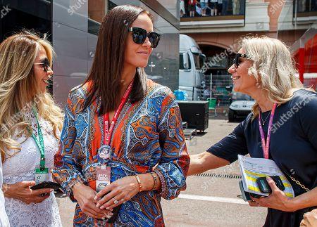 Stock Picture of Minttu Virtanen (C), wife of Finnish Formula One driver Kimi Raikkonen of Alfa Romeo Racing prior to 2019 Formula One Grand Prix of Monaco at the Monte Carlo circuit in Monaco, 26 May 2019.