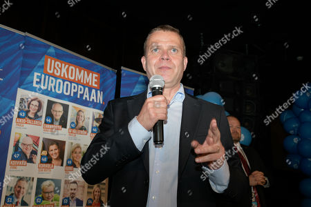 National Coalition Party leader Petteri Orpo during the European elections in Helsinki, Finland, 26 May 2019. The European Parliament election is held by member countries of the European Union (EU) from 23 to 26 May 2019.