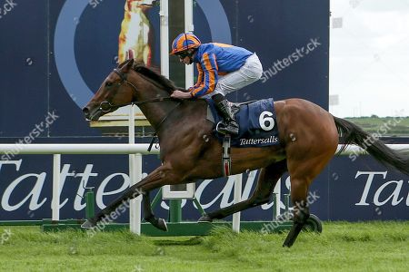 The Tattersalls Irish 1,000 Guineas. Ryan Lee Moore on Hermosa wins The Tattersalls Irish 1,000 Guineas