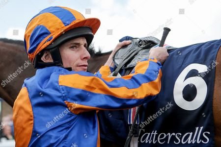 The Tattersalls Irish 1,000 Guineas . Ryan Lee Moore after winning The Tattersalls Irish 1,000 Guineas with Hermosa