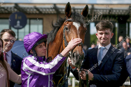 The Tattersalls Gold Cup. Ryan Lee Moore with Magical after winning The Tattersalls Gold Cup