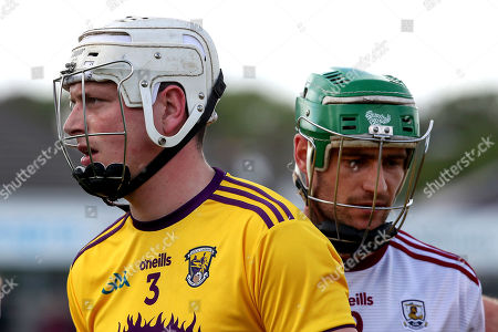 Galway vs Wexford. Wexford's Liam Ryan and David Burke of Galway dejected after the game finishes in a draw