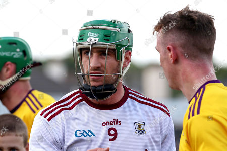 Galway vs Wexford. Galway's David Burke dejected at the end of the game
