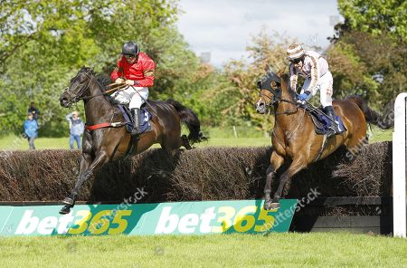 Stock Image of Gardiners Hill and James Bowen [left] beat You Say What at Uttoxeter.