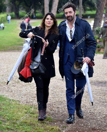 Lina Palmerini and Alberto Matano
