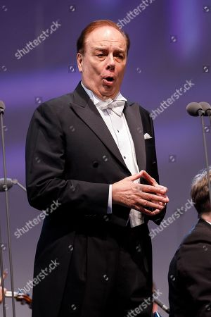 Opera singer Ferruccio Furlanetto performs onstage during a concert outside the opera house in Vienna, Austria, 26 May 2019. The Jubilee concert outside the opera is free for all and features ensemble singers, international guest artists, the orchestra and chorus of the Wiener Staatsoper under conductor Marco Armiliato.