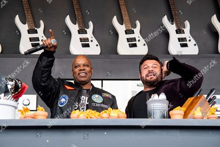 Stock Image of Too Short, Adam Richman. Too Short, left, and Adam Richman are seen at the BottleRock Napa Valley Music Festival at Napa Valley Expo, in Napa, Calif