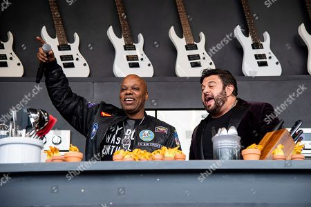 Stock Picture of Too Short, Adam Richman. Too Short, left, and Adam Richman are seen at the BottleRock Napa Valley Music Festival at Napa Valley Expo, in Napa, Calif