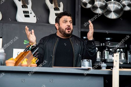 Stock Picture of Adam Richman is seen at the BottleRock Napa Valley Music Festival at Napa Valley Expo, in Napa, Calif