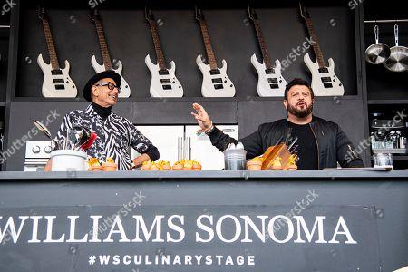 Stock Image of Jeff Goldblum, Adam Richman. Jeff Goldblum, left, and Adam Richman are seen at the BottleRock Napa Valley Music Festival at Napa Valley Expo, in Napa, Calif