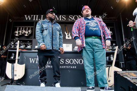 Stock Photo of Big Boi, Matty Matheson. Big Boi, left, and Matty Matheson are seen at the BottleRock Napa Valley Music Festival at Napa Valley Expo, in Napa, Calif
