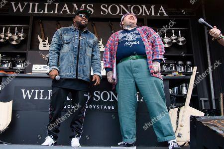 Stock Picture of Big Boi, Matty Matheson. Big Boi, left, and Matty Matheson are seen at the BottleRock Napa Valley Music Festival at Napa Valley Expo, in Napa, Calif
