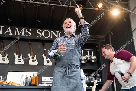 Hubert Keller is seen at the BottleRock Napa Valley Music Festival at Napa Valley Expo, in Napa, Calif
