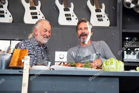 Hubert Keller, Eric McCormack. Hubert Keller, left, and Eric McCormack are seen at the BottleRock Napa Valley Music Festival at Napa Valley Expo, in Napa, Calif