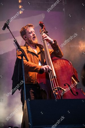 Ted Dwane of Mumford & Sons performs at the BottleRock Napa Valley Music Festival at Napa Valley Expo, in Napa, Calif