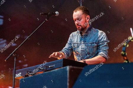Ben Lovett of Mumford & Sons performs at the BottleRock Napa Valley Music Festival at Napa Valley Expo, in Napa, Calif